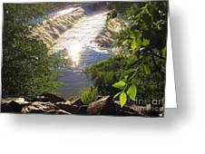Shimmering Sun Rays On Colorado Springs Greeting Card
