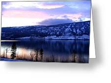 Shimmering Wood Lake Greeting Card