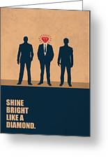 Shine Bright Like A Diamond Corporate Start-up Quotes Poster Greeting Card