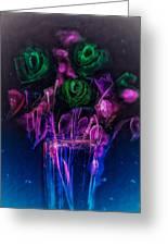 Shining Flowers  Greeting Card