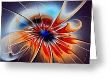 Shining Red Flower Greeting Card