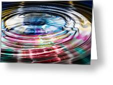 Shining Ripples In Bright Colors Greeting Card