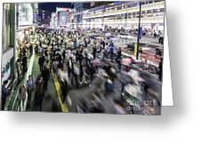 Shinjuku People Rush Greeting Card