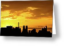Shinjuku Sunrise Greeting Card