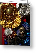 Shiny Masks In Venice Greeting Card