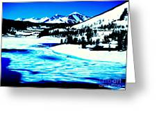 Shiny Snow Magic On Lake Greeting Card
