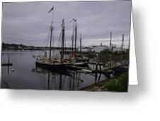 Ship At Dock. Greeting Card