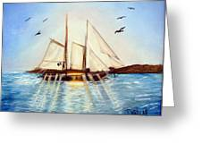 Ship At Mallory Square Greeting Card