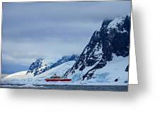 Ship In Antarctica Greeting Card