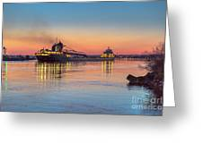 Ship Kaye Barker Reflections -8368 Greeting Card