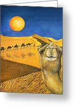 Ship Of The Desert Greeting Card