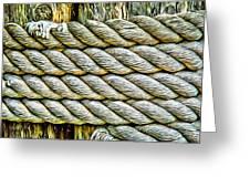 Ship Rope Anchored Greeting Card