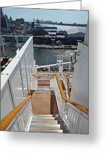 Shipboard Stairways Greeting Card