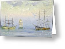 Shipping At Anchor Greeting Card