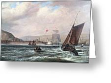 Shipping Off Newhaven Harbour Greeting Card