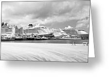 Ships All In A Row Greeting Card