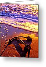 Ships Anchor On Beach Greeting Card