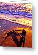 Ships Anchor On Beach Greeting Card