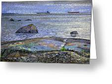 Ships And Stones Greeting Card