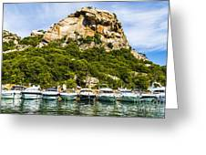 Ships Collection To Italian Harbor Greeting Card