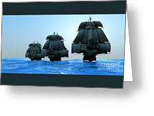 Ships In Sail Greeting Card