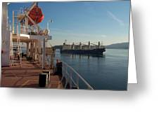 Ships Passing Greeting Card