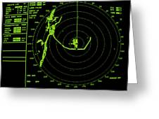 Ship's Radar Screen While In Port Greeting Card