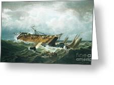Shipwreck Off Nantucket Greeting Card