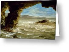 Shipwreck On The Coast  Greeting Card