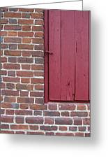 Shirley Mansion Outbuilding Wall Greeting Card