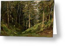 Shishkin, Ivan 1832-1898 Forest Clearing Greeting Card