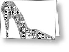 Shoe Shopping Greeting Card