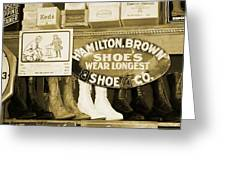 Shoe Shopping In The 30's Greeting Card