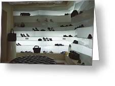 Shoe Store After Hours - Venice, Italy Greeting Card