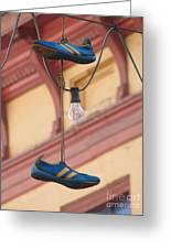 Shoes Hanging Greeting Card