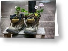 Shoes On A Montevideo Street Greeting Card
