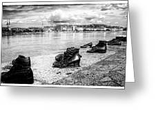 Shoes On The Danube Memorial Greeting Card