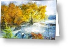 Shohola Falls Autumn Greeting Card