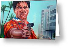 Shoot Out On Ocean Drive Greeting Card