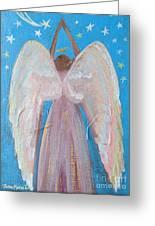 Shooting Star Angel Greeting Card
