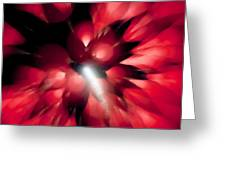 Shooting Star In Red K861 Greeting Card