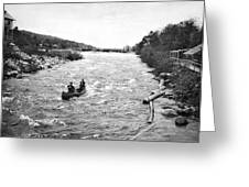 Shooting The Rapids In Maine Greeting Card