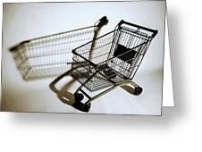 Shopping Cart Reflection Art  Greeting Card