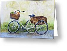 Shopping Day In Lucca Italy Greeting Card
