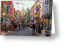 Shopping In Dublin Greeting Card