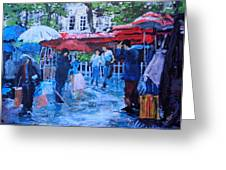 Shopping Montmartre Greeting Card