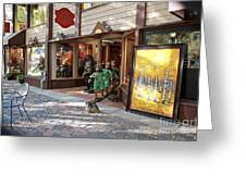 Shopping Street Greeting Card