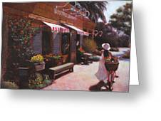 Shopping Wine In Napa Valley Greeting Card