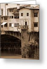 Shops On The Ponte Vecchio Greeting Card