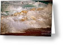 Sunset Beach Splash Greeting Card